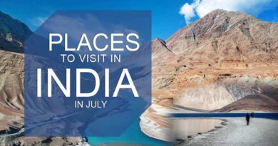 Places to visit in India in July