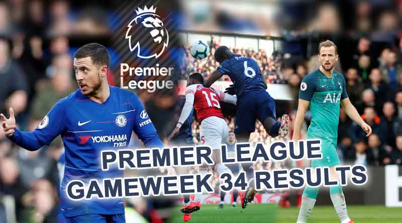 Premier League Gameweek 34 Results