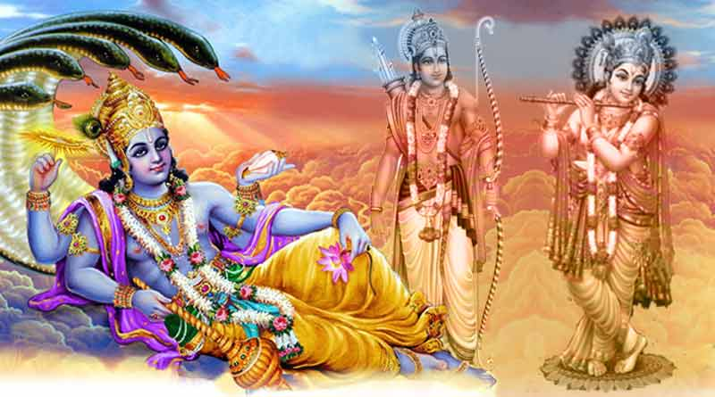 Rama and Krishna avatars of Lord Vishnu