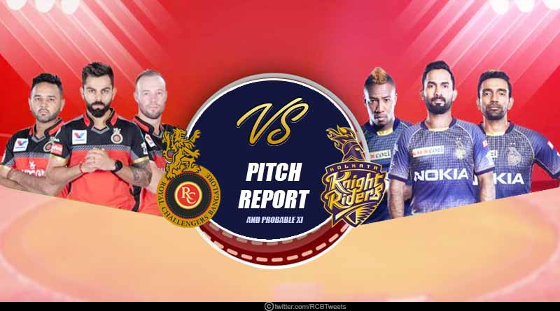 RCB Vs KKR pitch report and key players