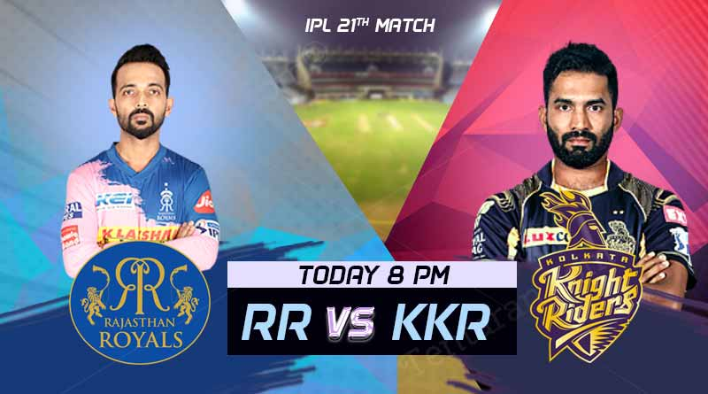 RR vs KKR 21st Match