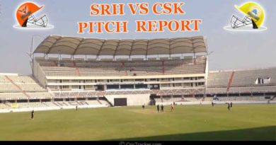 SRH Vs CSK pitch report and Probable XI
