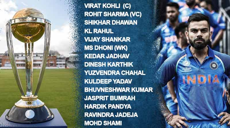 Indian Team Squad for ICC World Cup 2019