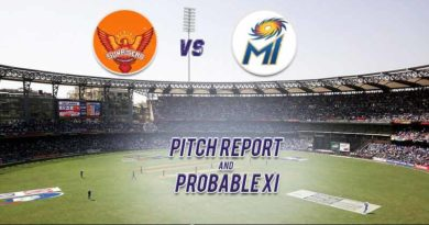 MI vs SRH Pitch report and Probable XI
