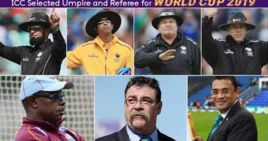 World Cup 2019 Umpires and Referees