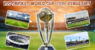 2019 World Cup venue list