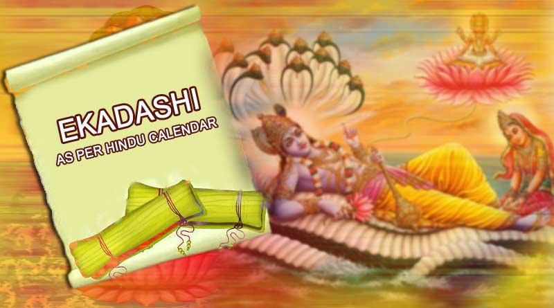 Ekadashi dates 2019 as per Hindu calendar