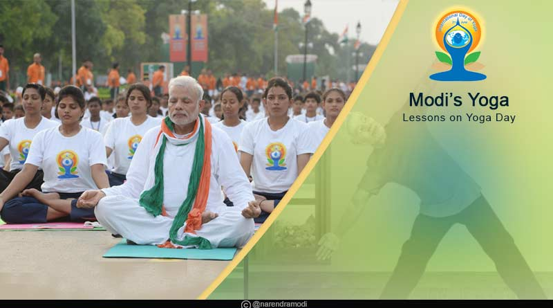 Modis Yoga Lessons on Yoga Day