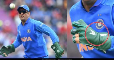 ask dhoni to remove army insignia from gloves
