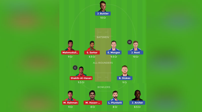 eng vs ban dream11 team