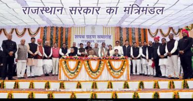 rajasthan state government chief minister and ministers