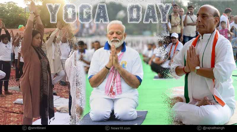 who all performed yoga in yoga day