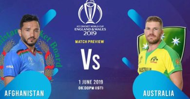 world cup 2019 afghanistan vs australia 4th match