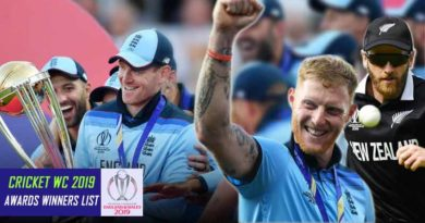 Cricket WC 2019 Awards Winners List