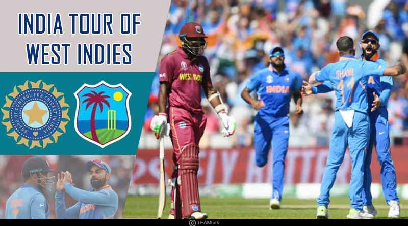 Indian team for West Indies Tour