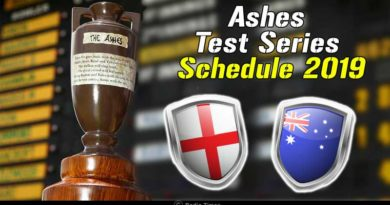 ashes test series schedule 2019