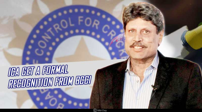 ica get formal recognition from bcci