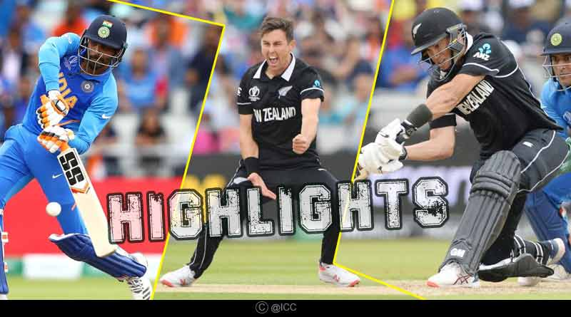 india vs new zealand semi final match highlights
