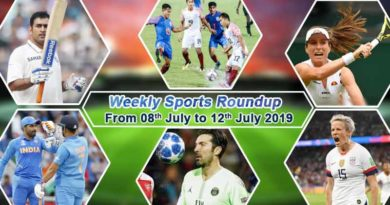 sports weekly roundup 08 july 12 july 2019