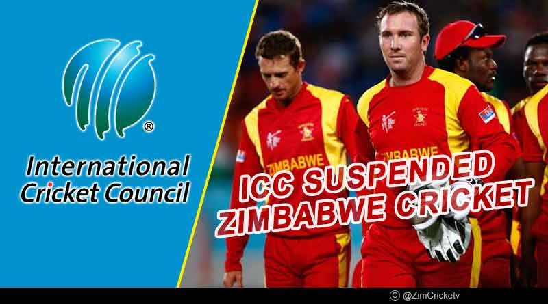 why zimbabwe got suspended by icc