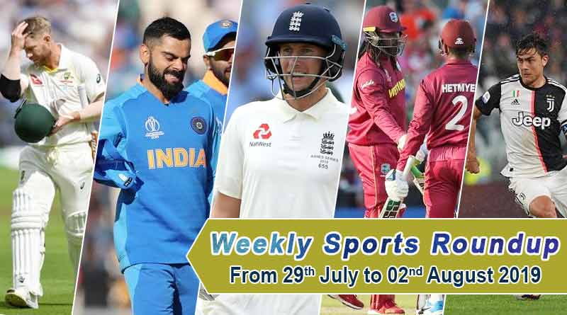 sports weekly roundup 29th july to 02 august