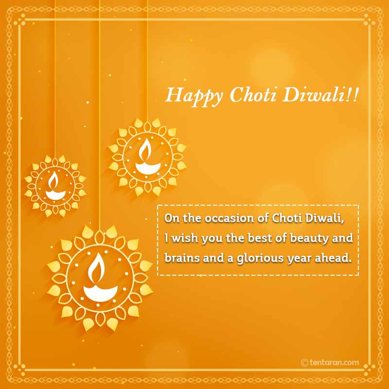 Happy Chhoti Diwali Messages in english