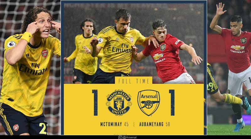 arsenal vs manchester united results 2019 premier league