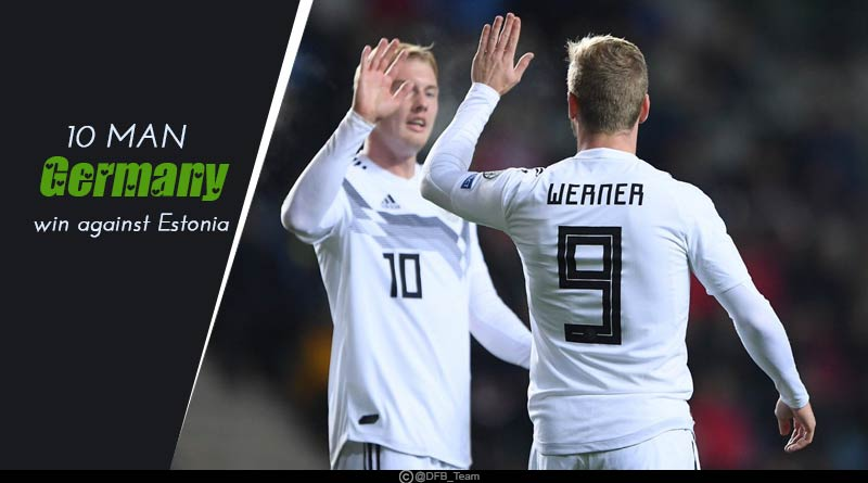 Euro Qualifiers 2020: 10 Man Germany win against Estonia