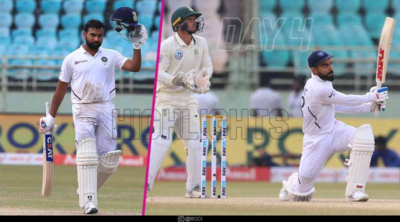 ind vs sa 2019 1st test match day 4 highlights