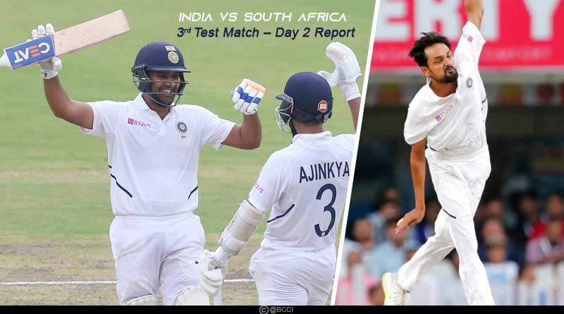 india vs south africa 2019 3rd test day 2 match highlights