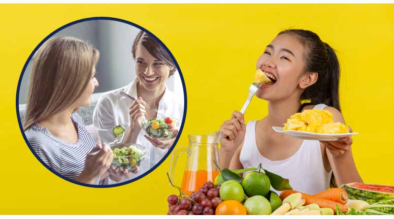 eat fruits and raw vegetables
