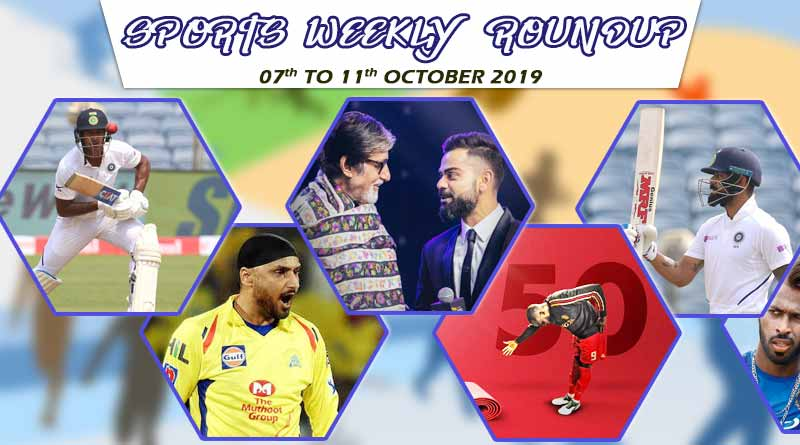 sports weekly roundup 07th to 11th october