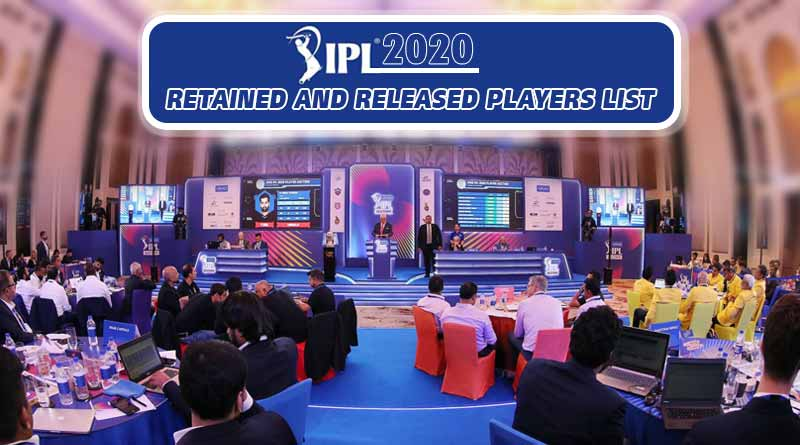 ipl 2020 retained and released players list
