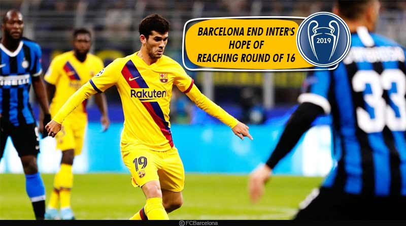 UCL 2019: Barcelona end Inter's hope of reaching Round of 16