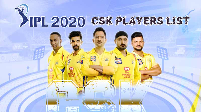 chennai super kings team 2020 players list