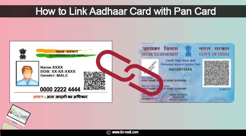 how to link aadhaar card with pan