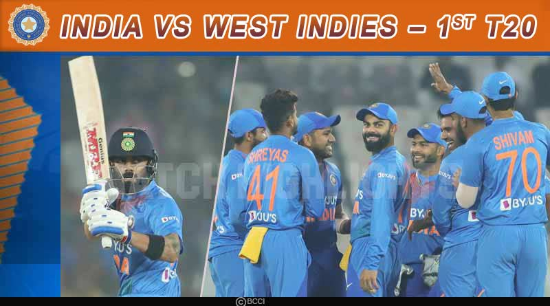 india vs west indies first t20 match 2019 highlights match