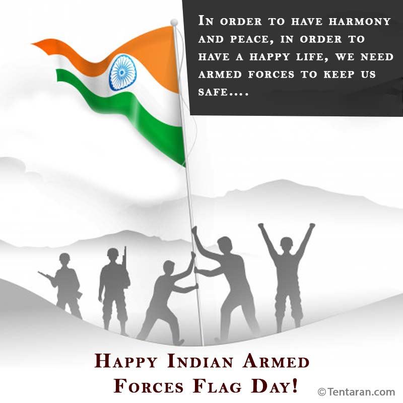 indian armed forces flag day images quote1