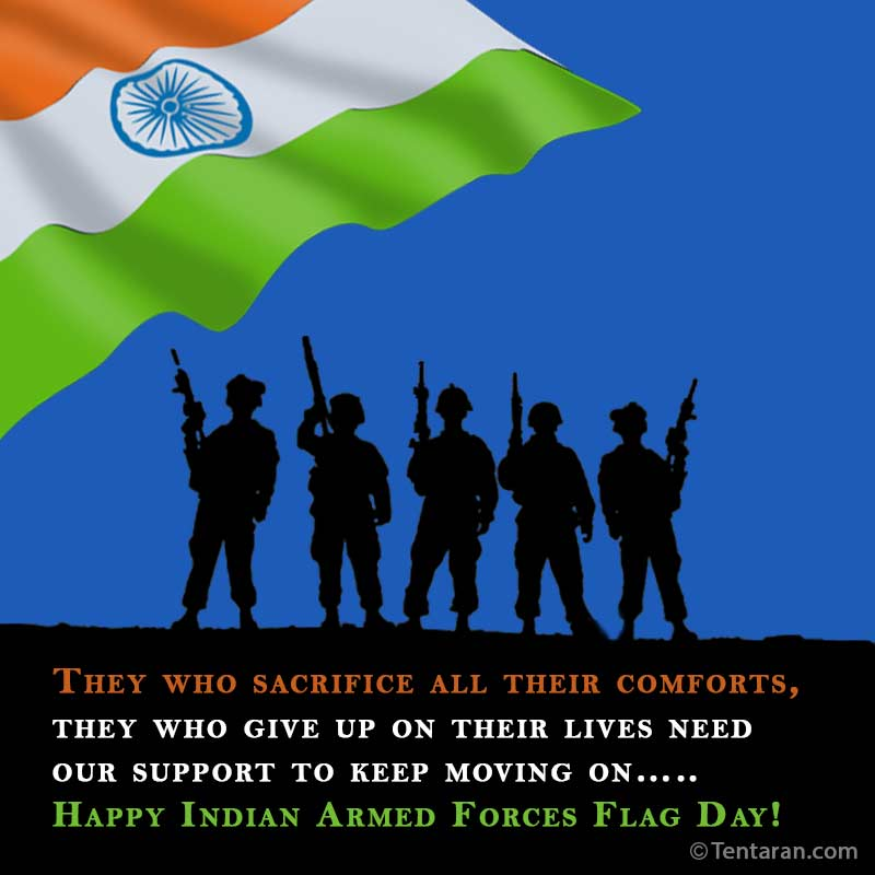 indian armed forces flag day images quote2