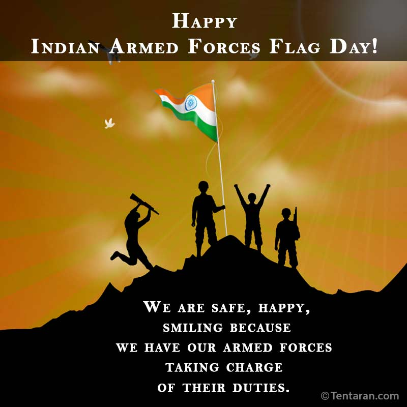 indian armed forces flag day images quote4