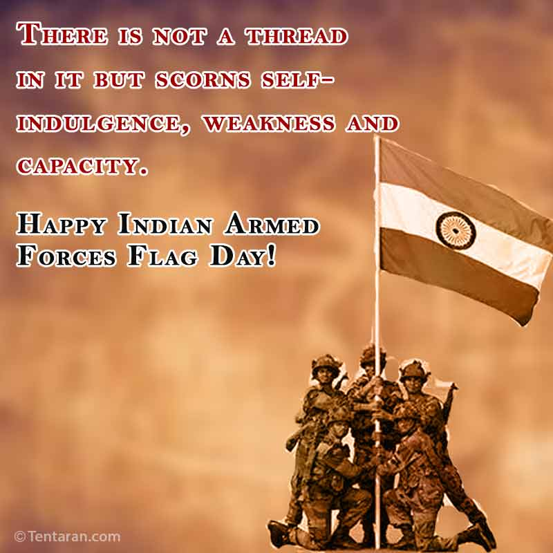 indian armed forces flag day images quote5