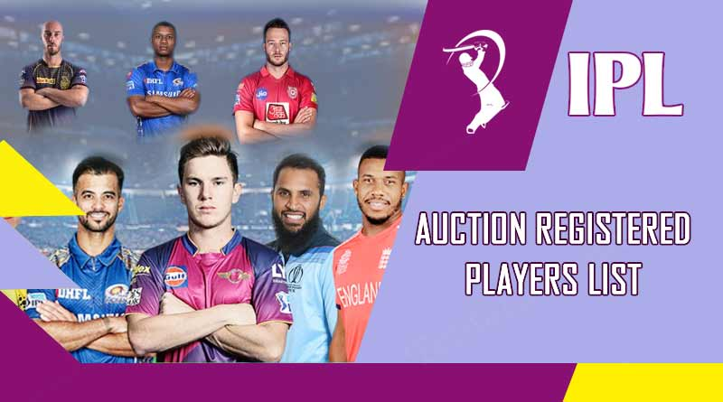 ipl 2020 auction registered players