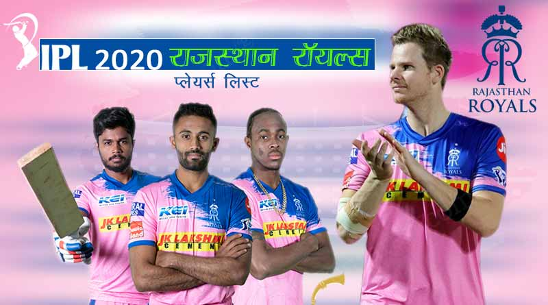 ipl 2020 rajasthan royals team players list
