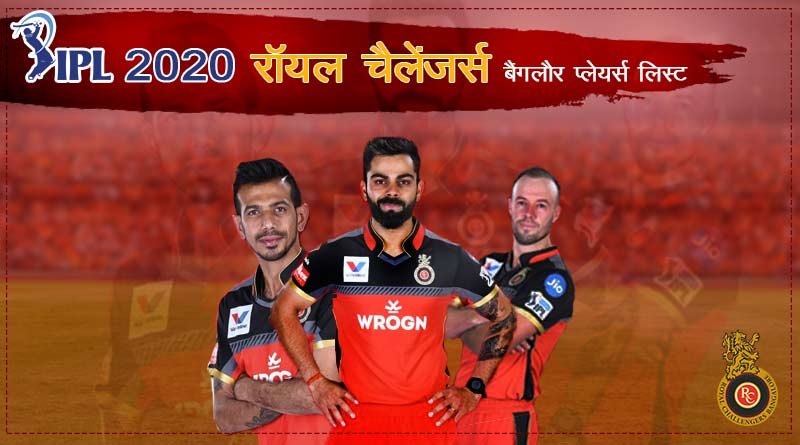 ipl 2020 royal challengers bangalore team players list