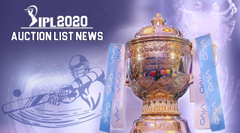 vivo ipl 2020 players auction list