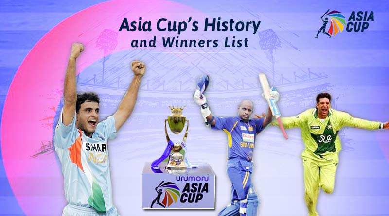 asia cup winners list year wise