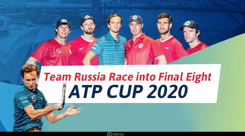 atp cup 2020 team russia standings
