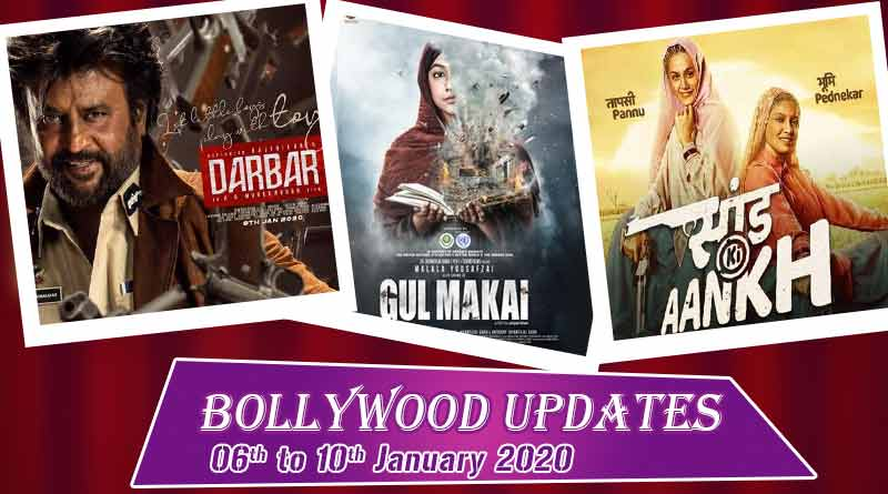bollywood entertainment news 06th to 10th january 2020