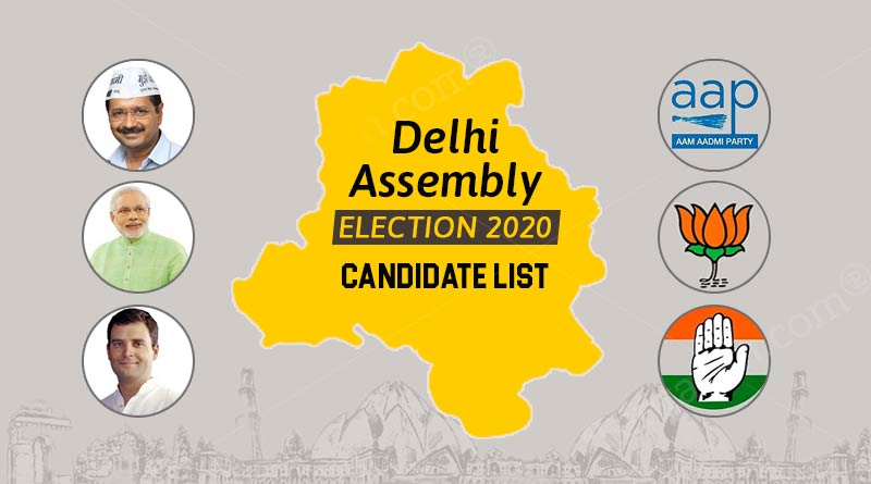 delhi assembly election 2020 candidate list
