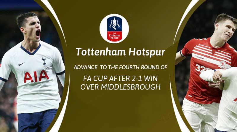 fa cup 2020 tottenham hotspur vs middlesbrough highlights